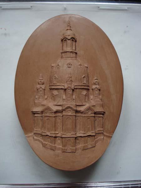 Frauenkirchenmedaillon für Vadossi, Modell 7 x 4,5 cm