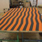 Tischwand - Schablonierarbeit